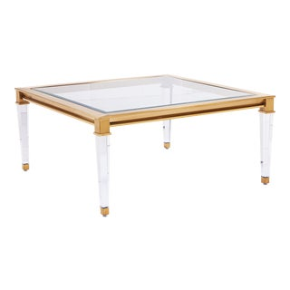 Blink Home Square Gold Cocktail Table For Sale