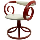 Image of George Mulhauser for Plycraft Scroll Arm Sultana Swivel Chair For Sale