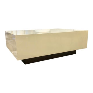 Contemporary Pearl Cocktail Square Table For Sale