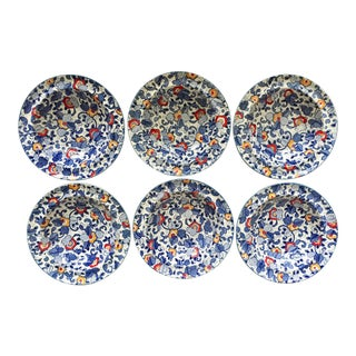 6 English Staffordshire 'Chintz' Bowls-James Kent For Sale