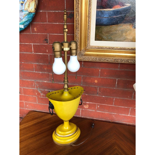 Warren Kessler Painted Metal Urn Lamps - a Pair For Sale In Chicago - Image 6 of 12