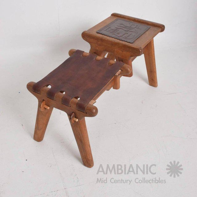 Mid-Century Modern Angel Pazmino Telephone Table Stool - Image 3 of 7