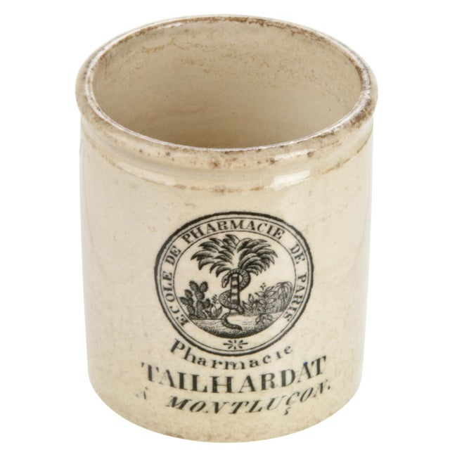 Vintage French Pharmacy Crock - Image 1 of 4