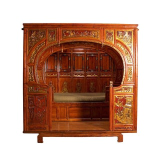 Mid 19th Century Antique Chinese Wedding Bed For Sale