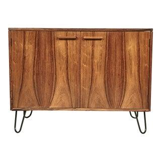 Danish Rosewood Flip-Top Storage Cabinet For Sale