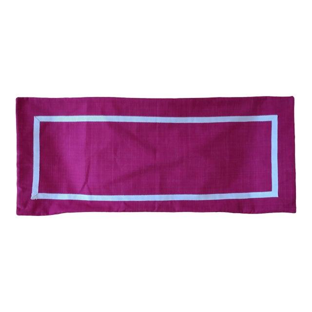 Custom Magenta Pink Linen Pillow Cover For Sale