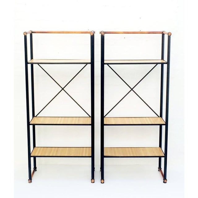 Mid-Century Modern Wrought Iron Etageres by Cleo Baldon - A Pair For Sale - Image 3 of 8