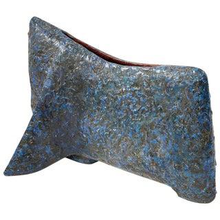 """Marcello Fantoni, """"Toro Blu"""" Important Sculpture in Ceramic, Italy, 1959 For Sale"""