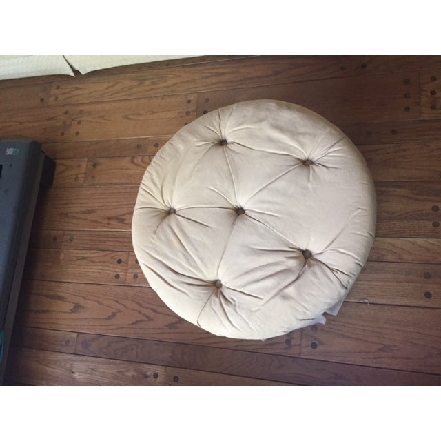 Round Fabric Ottoman - Image 7 of 8