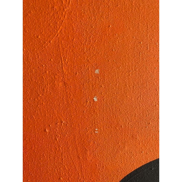 Canvas 1960s Vintage Mg Christian Abstract Geometric Oil on Canvas Painting For Sale - Image 7 of 12
