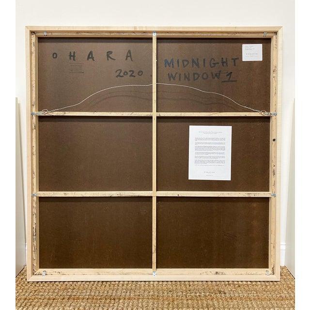 "John O'Hara Exclusive John O'Hara ""Midnight Window, 1"" Encaustic Painting For Sale - Image 4 of 7"