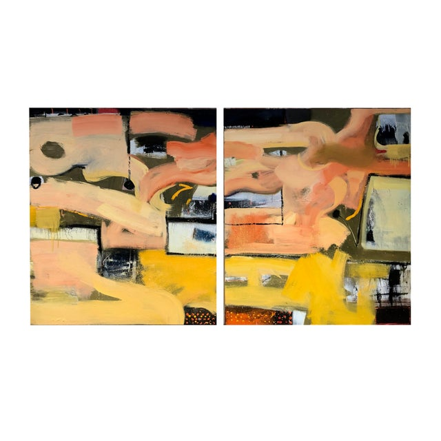 2010s Original Abstract Diptych Painting - 2 Pieces For Sale - Image 5 of 5