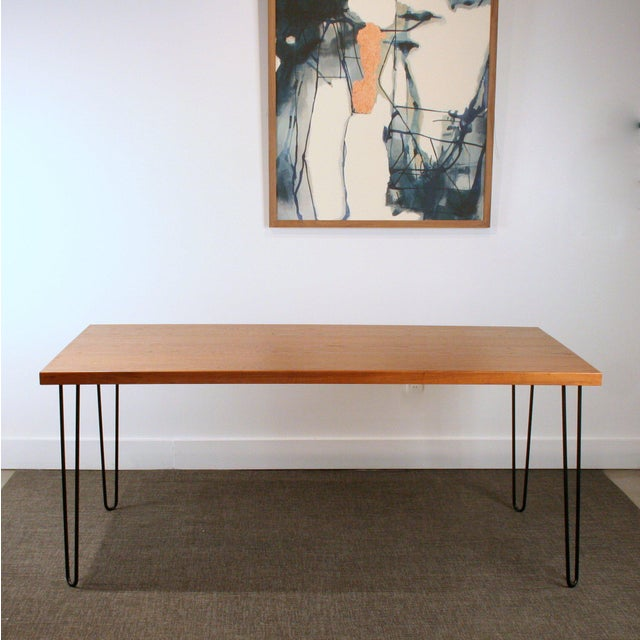Teak Hairpin Dining Table - Image 5 of 5
