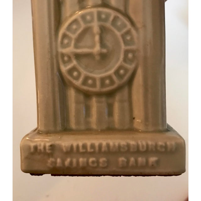 Gray 1954 Americana Williamsburg Bank Commemorative Coin Bank For Sale - Image 8 of 11