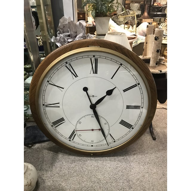 Crystal Howard Miller Wall Clock For Sale - Image 7 of 7