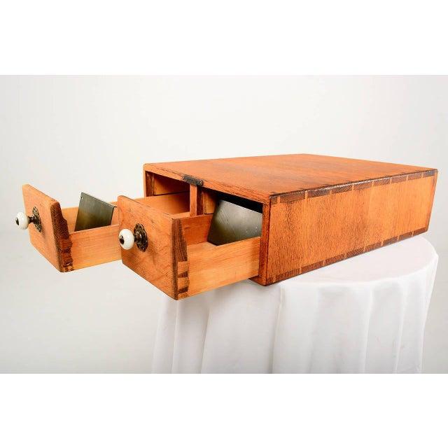 Traditional Vintage Oak File Box For Sale - Image 3 of 9