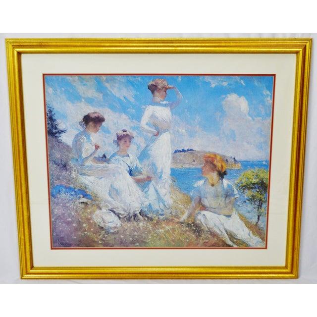 Vintage Framed Frank Weston Benson Summer Seascape Print For Sale - Image 11 of 11