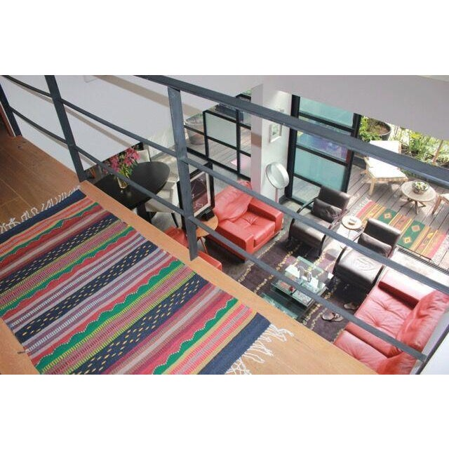 Mexican Pedal-Loom Striped Rug - 2′7″ × 4′10″ - Image 3 of 5
