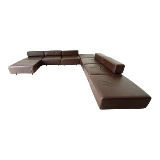 Harvey Probber Leather Cubo Sectional Sofa For Sale