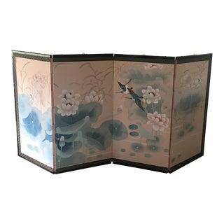 Vintage Japanese Byobu Silk Folding Screen