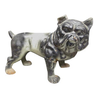 Antique Hubley English Bulldog Cast Iron Doorstop For Sale