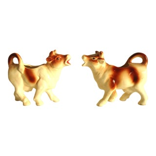 Vintage Figural Cow Creamers - Set of 2 For Sale