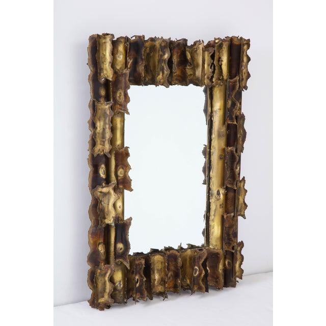 Tom Greene Tom Greene Custom Made Brutalist Mirror For Sale - Image 4 of 12