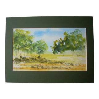 Chantal Herran Landscape Watercolor Painting For Sale