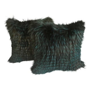 Pair of Fox Fur Pillow
