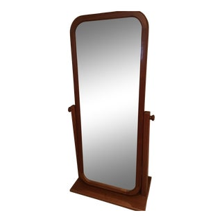Mid Century Modern Teak Floor Mirror For Sale