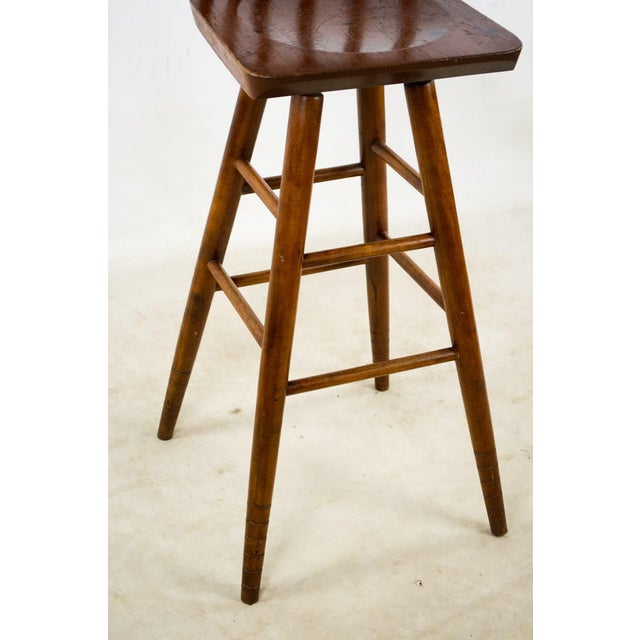 1900s English Traditional Mahogany Bar Stools - a Pair For Sale - Image 9 of 13