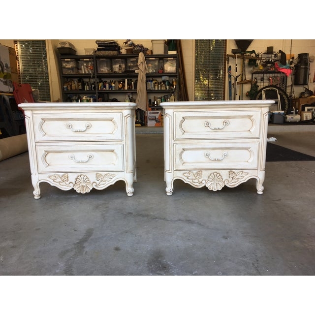 Hickory Manufacturing Company French Nightstands- A Pair - Image 2 of 11