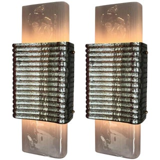 Righe Sconces / Flush Mounts by Fabio Ltd - a Pair For Sale