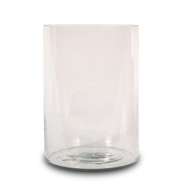 Sarreid Ltd Clear Glass Hurricane Vases - a Pair - Image 2 of 2