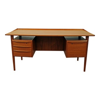 Danish Modern Peter Lovig Nielsen for Dansk Teak Floating Top Desk