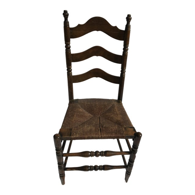 Antique Ladder Back Rush Seat Chair For Sale - Antique Ladder Back Rush Seat Chair Chairish