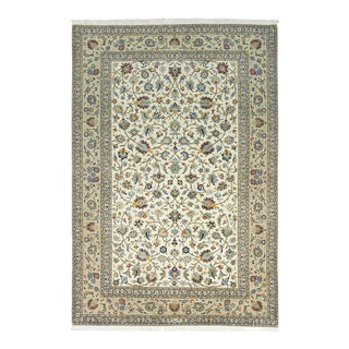 """Kashan, Hand Knotted Area Rug - 6' 9"""" X 10' 0"""" For Sale"""