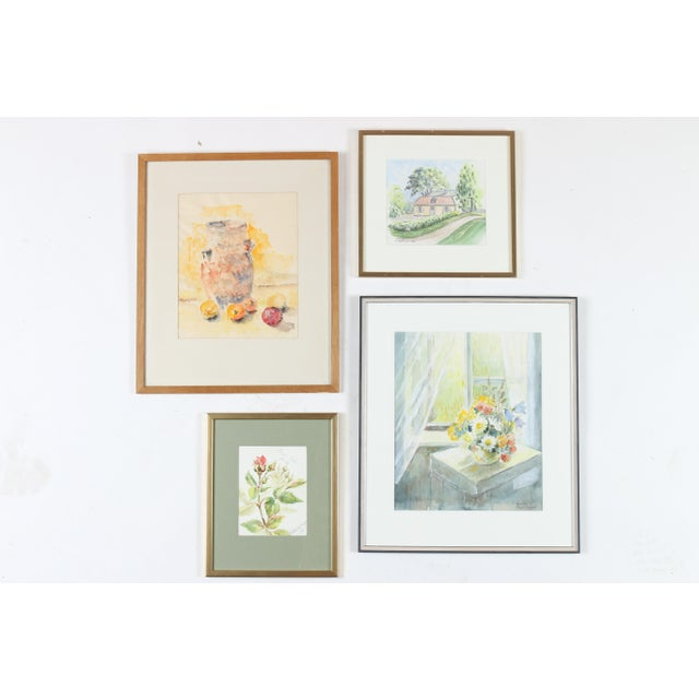 Watercolor Gallery Wall Art Paintings Set Of 4 Chairish