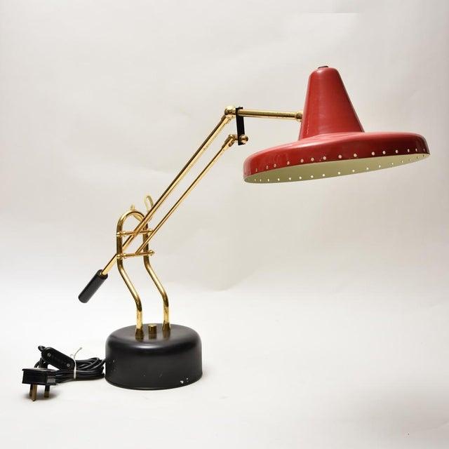 Stilnovo Stilnovo Brass Desk Lamp For Sale - Image 4 of 8