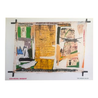 "Jean Michel Basquiat Rare 1999 Original Lithograph Print Exhibition Poster "" Jawbone of an Ass "" 1982 For Sale"
