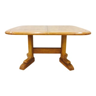 Mid-Century Modern Honey Maple Dining Table