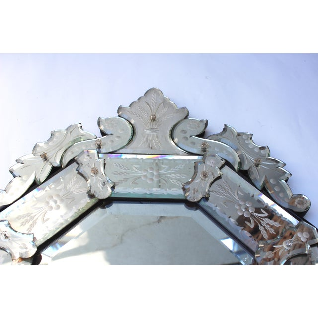 Venetian Style Glass Mirror For Sale - Image 11 of 12
