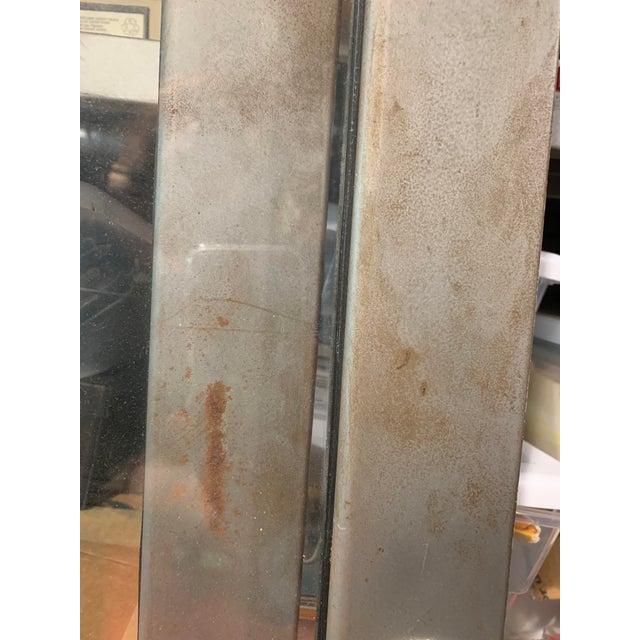Silver Vintage Industrial Metal Display Cabinet For Sale - Image 8 of 12
