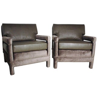 John Widdicomb Reupholstered Lounge Chairs For Sale