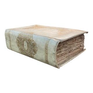 Large 18th Century Italian Vellum Religious Book For Sale