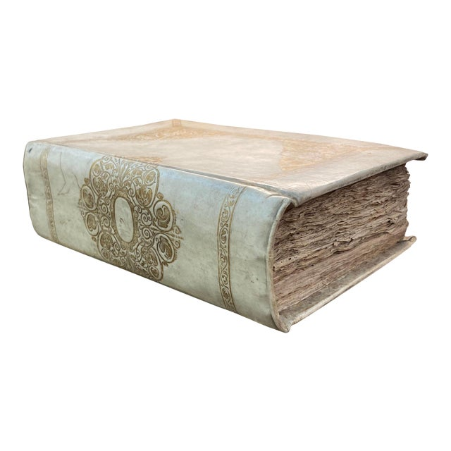 Large 18th Century Italian Vellum Religious Book For Sale
