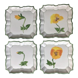Vietri Italian Square Plates - Set of 4 For Sale