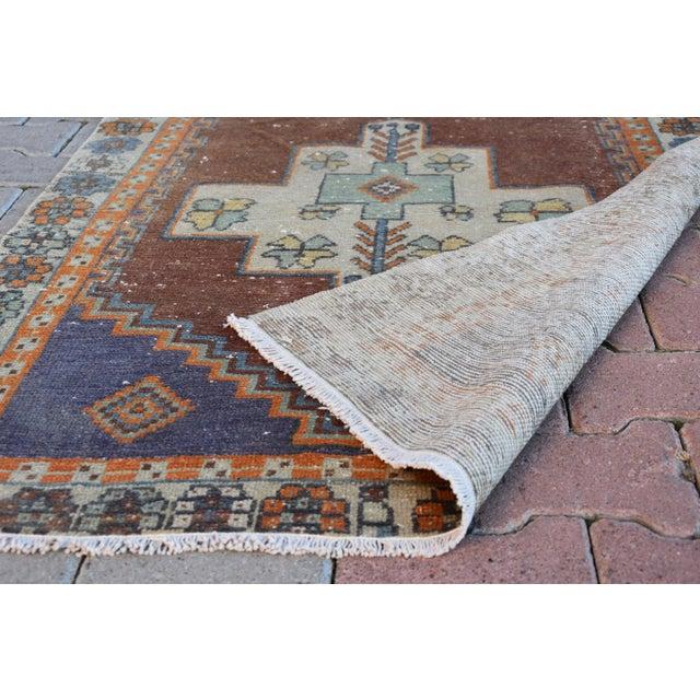 Turkish Handmade Vintage Pastel Pile Rug - 3′1″ × 4′9″ - Image 6 of 6