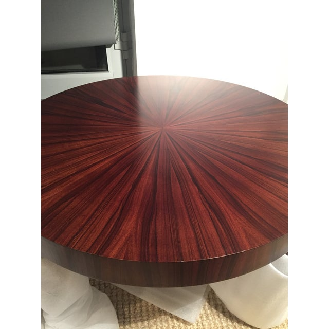 Art Deco Jean Michel Frank Style Circular Wood Coffee Table - Image 8 of 9