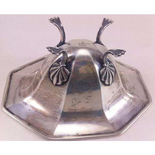 Metal Sterling Silver Bowl With Paw Feet For Sale - Image 7 of 10